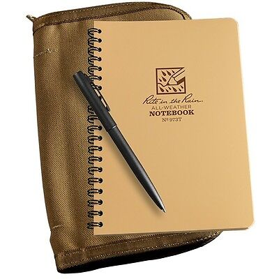 Rite In The Rain 973t-kit All-weather Universal Spiral Notebook Kit Tan