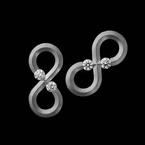 platinum earring backs ebay