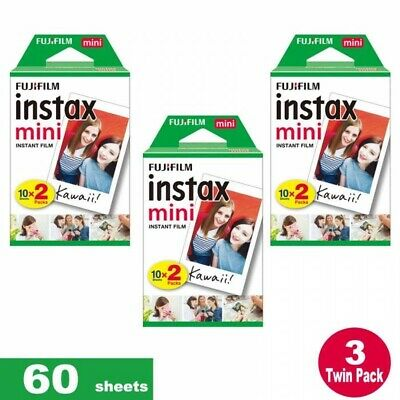 60  Fujifilm Instax Mini Instant Film  sheets For All FUJIFILM Mini CAMERAS