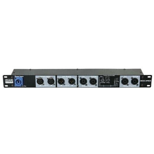 DAP ACU-100 Speaker Amplifier Connection Unit Panel Rack Speakon XLR Patch 1U