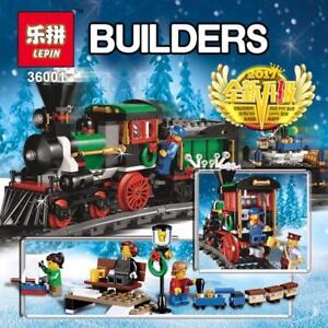 Lepin 36001 770Pcs Creative Series Christmas Winter Holiday Train Set! Educational Children Building Blocks Bricks Toys