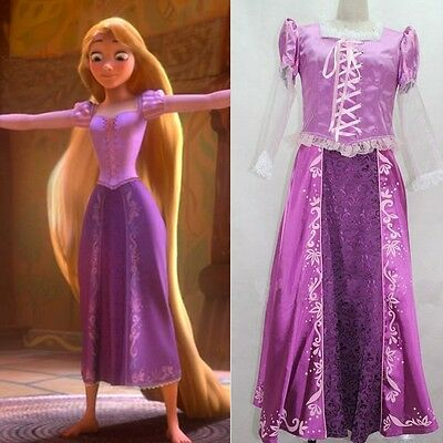 Adult Rapunzel Fancy Dress Cosplay Costume Princess Fairytale Tangled Customized - Rapunzel Costume Women