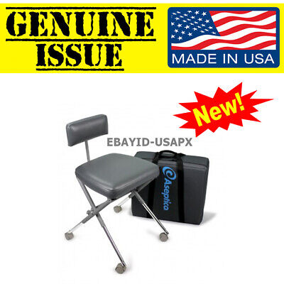Us Military Aseptico Aseptistool Portable Dental Stool Field Chair Adc-08cf Army