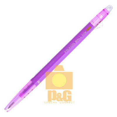 Pilot Frixion Colors Erasable Marker Ball Slim 0.38mm Gel Pen Purple Lfbs-18uf