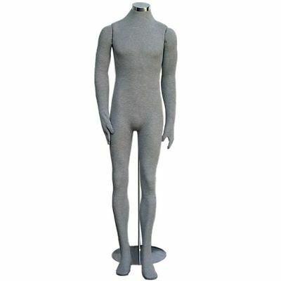 Mn-405 Grey Soft Flexible Bendable Posable Headless Male Body Mannequin Form