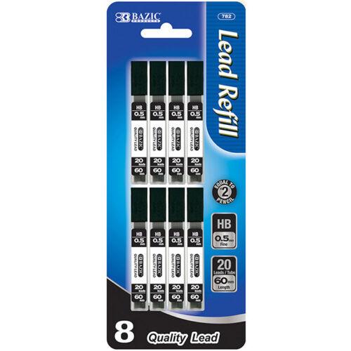 160 Pcs 0.5 mm mechanical pencil lead refills, 20 leads per tube, 8 per Pack