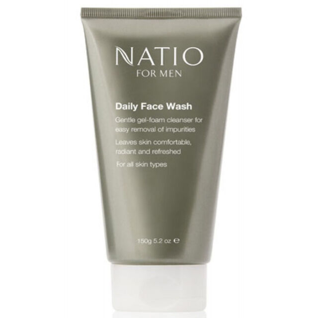 New 150g Natio Daily Face Wash For Men Facial Cleanser Gel Foam Moisturizer