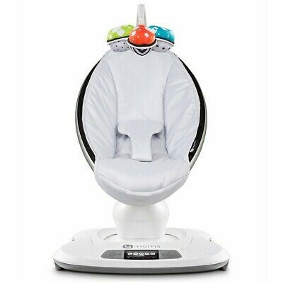NEW 4Moms Mamaroo 4 Infant Reclining Seat Rocker Bouncer Swing Gray Grey