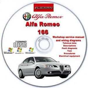 Alfa Romeo 166 Werkstatthandbuch-Reparaturanleitung CD auf Deutsch