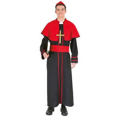 Herren-Kostüm Bischof, rot/schwarz Kardinal Priester Abt Bischofskostüm   - Kardinal Priester Kostüm