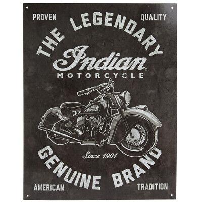 Indian Legendary Motorcycle Genuine Service Garage Retro Metal Vintage Sign