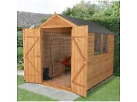 Shed 8ft by 6ft new