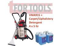 Sealey VMA915 & 1 Gallon Car Valet Machine Wet/Dry Carpet Upholstery Cleaner