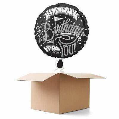 fel Happy Birthday, 1 Ballon Geschenkballon Geburtstagsballon (Happy Birthday Tafel)