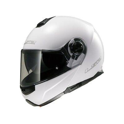 Casco Moto LS2 FF325 STROBE UNI taglia:XL (61) Bianco Casco pieghevole