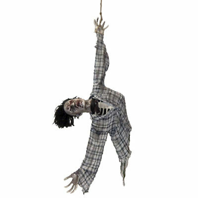 Deko-Figur Hängende Leiche, 140cm, mit Licht Halloween Party Dekoration   (Leiche Halloween Dekoration)