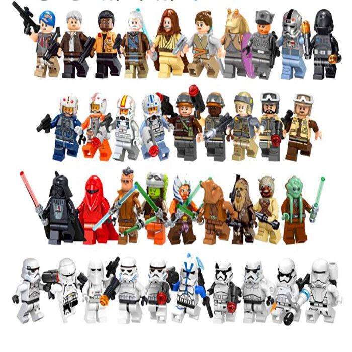 10 PCS//LOT Star Wars Darth Maul Vader Yoda Skywalker Stormtrooper Action Figures