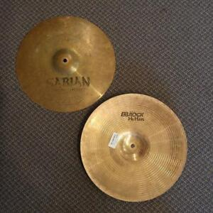 SABIAN B8 Rock cymbales hi-hats 14po - used-usagés