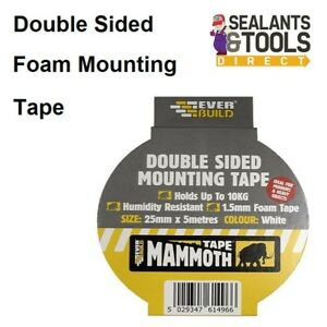 Everbuild Mammoth Multipurpose Double Sided Mounting Hanging Mirror Foam Tape