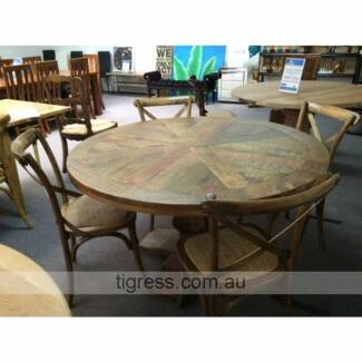 SALE Solid Hardwood Timber Round Table & Chairs Dining Package Castle Hill The Hills District Preview
