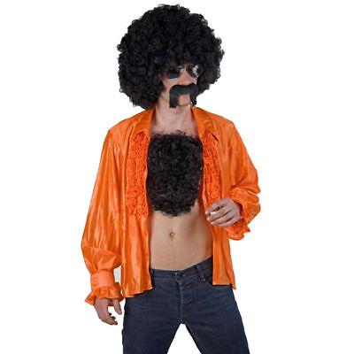 Brusthaar Toupet mit schwarzen Fake-Haaren, ideal für Kostüme, Mottopartys & - Fake Kostüm Haar