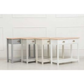 new console tables in grey white or stone reduced... was £99.99
