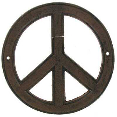 70s Style Decor (Brown Peace Sign Rustic Metal Wall Decor. Add 70's Style To your Room Or Office)