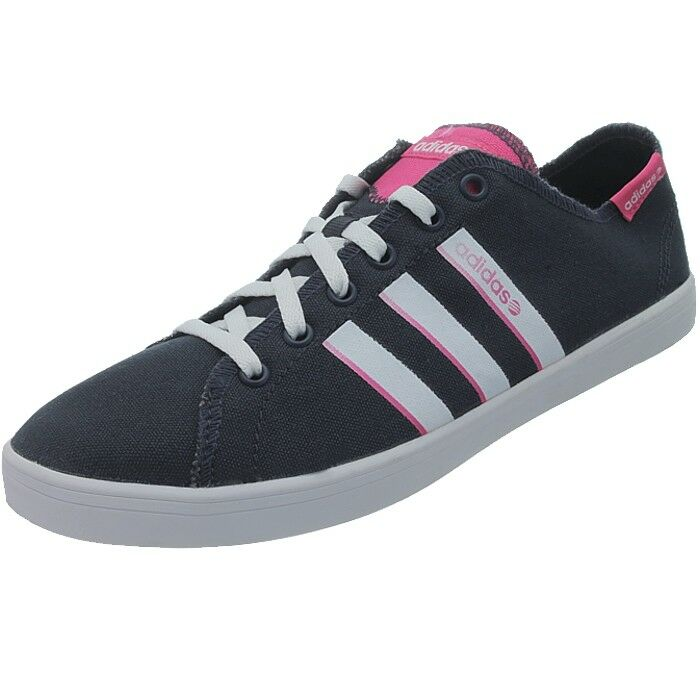 Details about Adidas VL Neo BBall Lo Womens Casual Lace Up Canvas Trainers Fashion Shoes