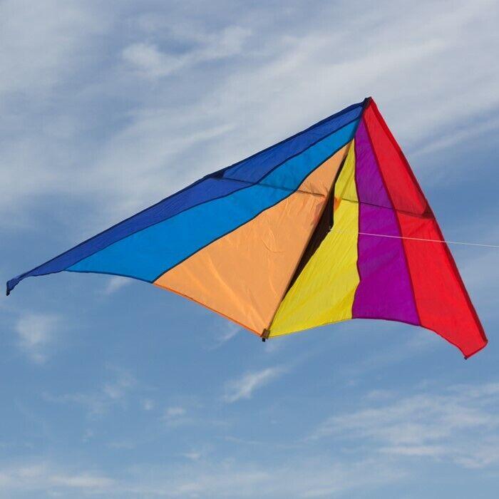 "Delta Kids Kite Rainbow 70"" + Line + Handle + Carry Bag"