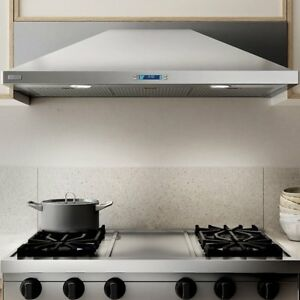 Modena chimney-style S/S under-cabinet hood.