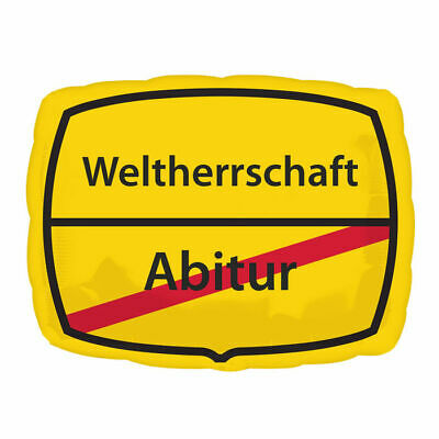 Folienballon Schild Abitur, ca. 43x30 cm Abschluss Gratulation Glückwunsch