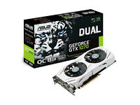 ASUS NVIDIA GeForce GTX 1070 8GB DUAL OC ** Only 3 month old ** Warranty with Receipt **