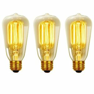 3 Edison-style light bulbs, new, in package