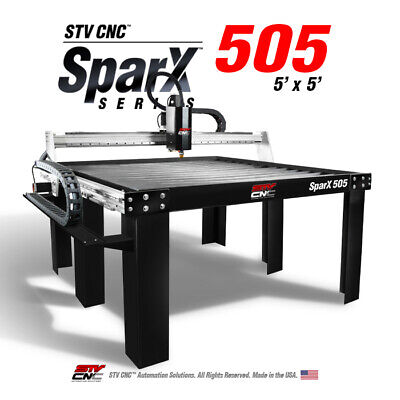 Stv Cnc 5x5 Plasma Cutting Table Sparx-505 - Made In The Usa