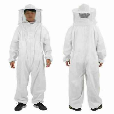 Beekeeping Coverall Anti Sting Bee Keeping Hat-veil Full Body Coat Suit L-2xl