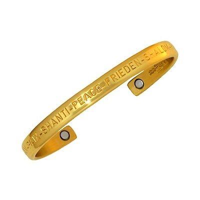 Sergio Lub Magnetic Brass Cuff Bracelet – Peace Brass - -