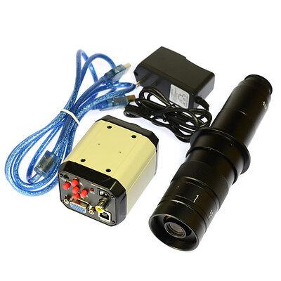 2mp Hd Vga Cvbs Tv Usb Industry Video Microscope Camera 180x C-mount Glass Lens