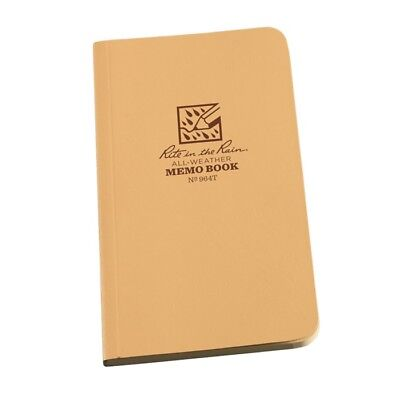 Rite In The Rain 964t All-weather Field-flex Memo Book Tan 3.5 X 6