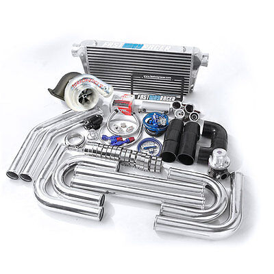 Universal GT35 T4 Turbo Kit+Turbonetics Hurricane 7868 Benita 3″ V-Band Downpipe