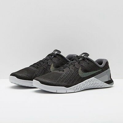 Nike Metcon 3 Metallic Training Shoe UK 8/7.5 Euro42.5 Black Unisex RRP££130.00