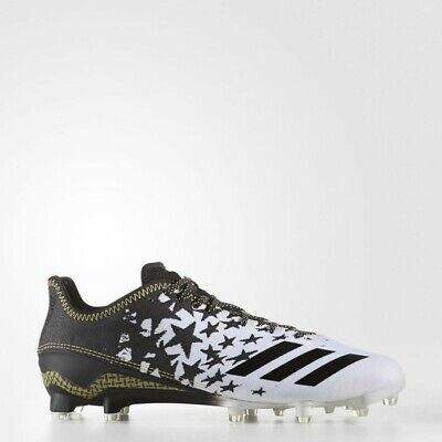 Adidas  BW0384 Adizero 5-Star 6.0 Young Patriot Cleats Men Shoes-White Size 10