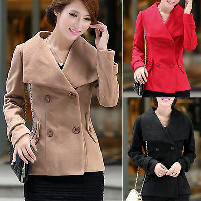 Womens slim pea coat