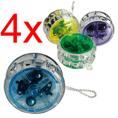 4 X YOYO TRICK YO YO CHILD CLUTCH MECHANISM TOY SPEED BALL RETURN TOP XMAS GIFT