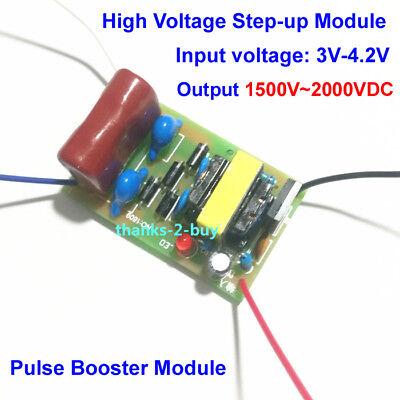 Dc 3v-4.2v To 1500v-2000v Super Arc Pulse Dc High Voltage Booster Power Module