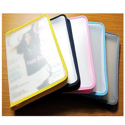 A4 Zip Bag Presentation Document Wallets Folder Book File Portfolio Colours