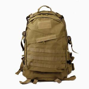 Tactical Military Molle Utility Rucksack Backpack Bag 45L - Tan