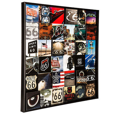 HISTORIC ROUTE 66 3D WOOD WALL DECOR  MANCAVE WALL DECOR   BIG WALL PIECE!