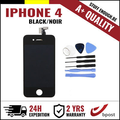 A+ LCD TOUCH SCREEN VITRE DISPLAY/SCHERM/ÉCRAN BLACK NOIR & TOOLS FOR IPHONE 4