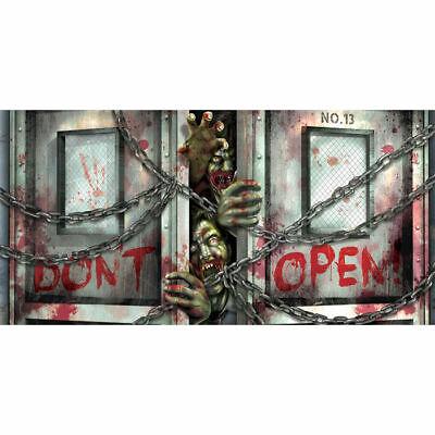 (2,06 € / 1 qm) Banner Zombieausbruch, 160x85 cm,Dekoration für Halloween Partys