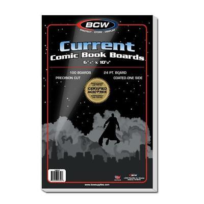 100 BCW MODERN CURRENT COMIC BOOK BACKER BOARDS